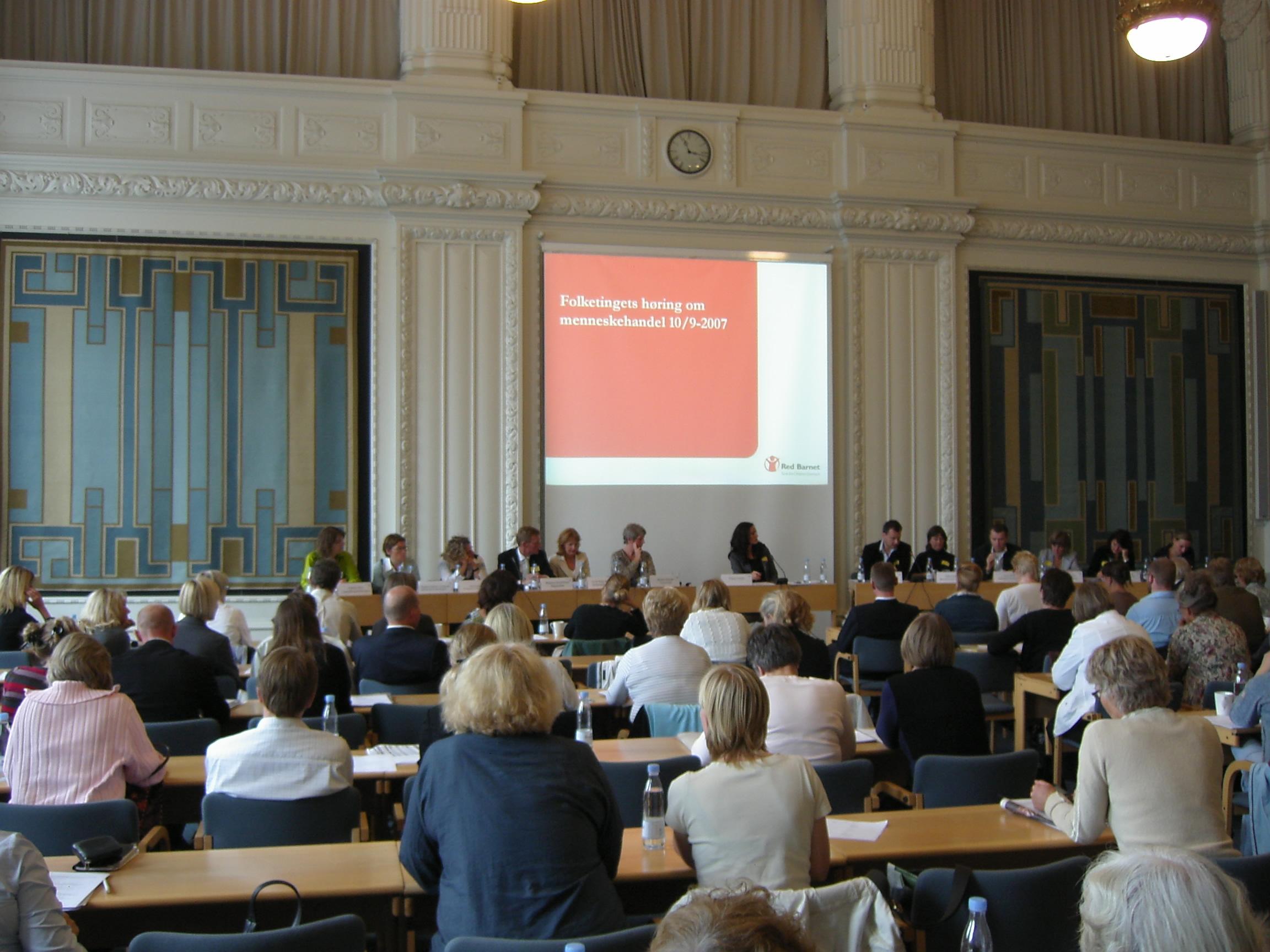 Høring om menneskehandel på Christiansborg d. 10. sep. 2007