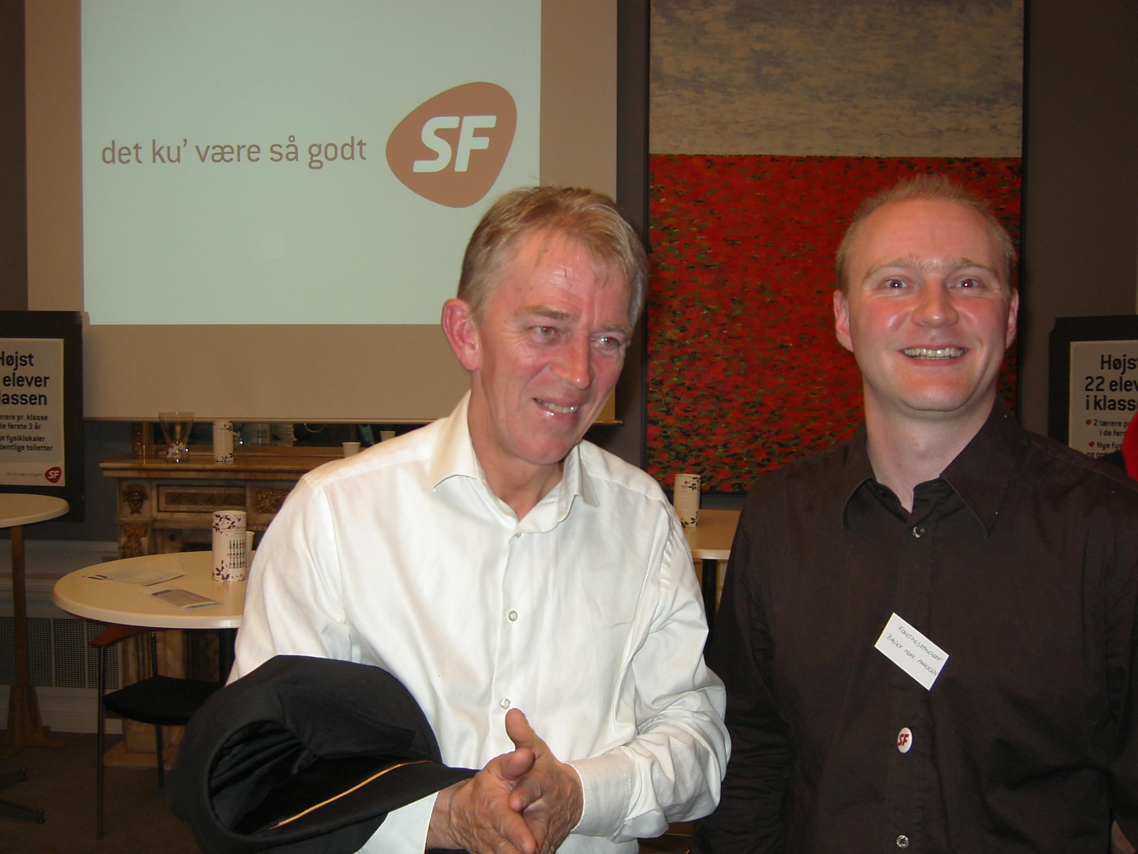 Villy Søvndal og Balder Mørk Andersen på Kulturnat 2007