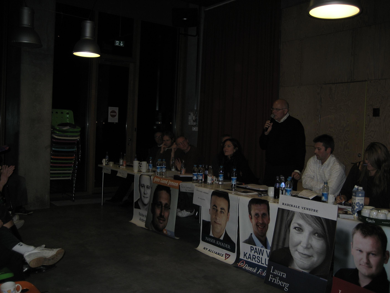 Valgmøde på Tietgenkollegiet - fotograf - Nok