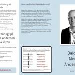 Balder M. Andersen - valgkampsflyer